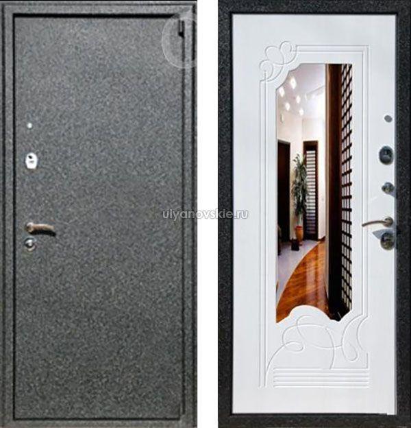 входные железные двери в квартиру с зеркалом купить