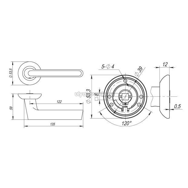 Ручка Fuaro RM Focus никель
