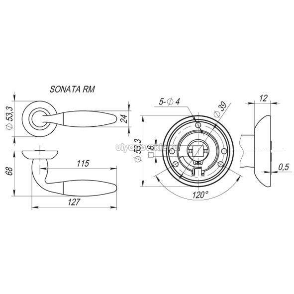 Ручка Fuaro RM Sonata никель