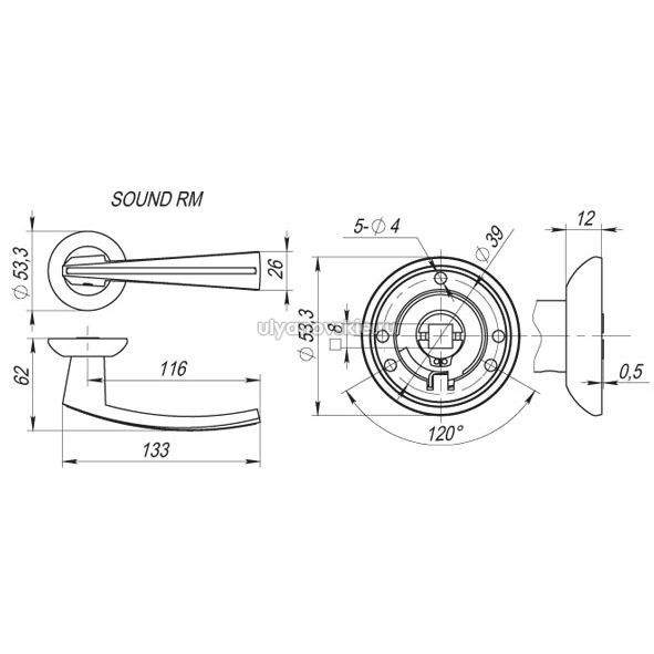 Ручка Fuaro RM Sound никель
