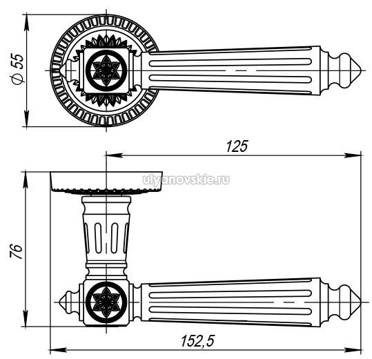 Ручка Armadillo Matador CL4-СР Хром
