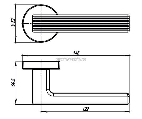 Ручка Armadillo LINE USQ6-SN-3 Матовый никель