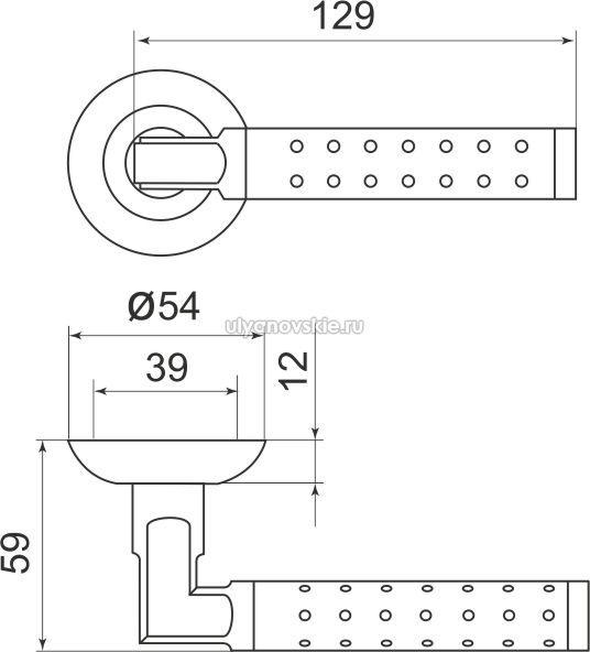 Ручка Eridan LD37-1SG/CP-1 матовое золото/хром