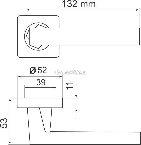 Ручка Corsica SQ003-21SN-3 матовый никель