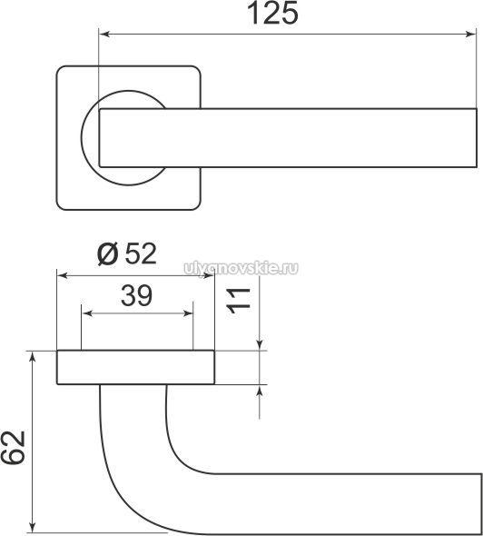 Ручка Kea SQ001-21SN-3 матовый никель