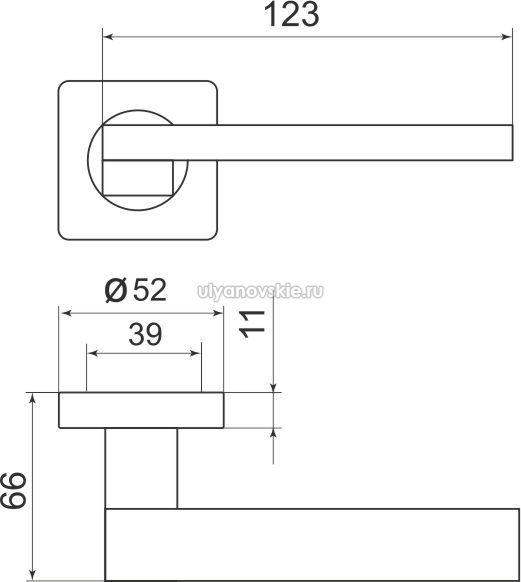 Ручка Sena SQ002-21SN-3 матовый никель