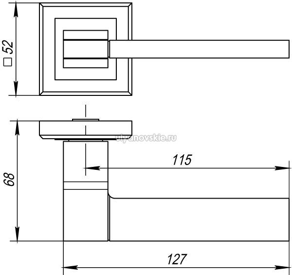 Ручка Tech QL-SN/CP-3 матовый никель/хром