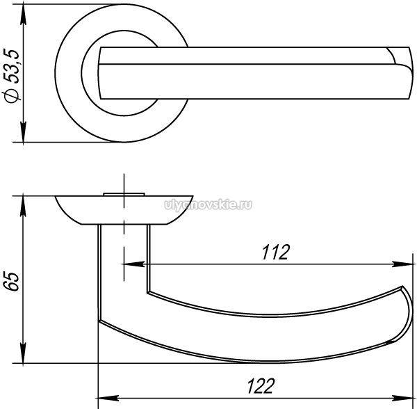 Ручка Punto Alfa TL-ABG-6 зеленая бронза