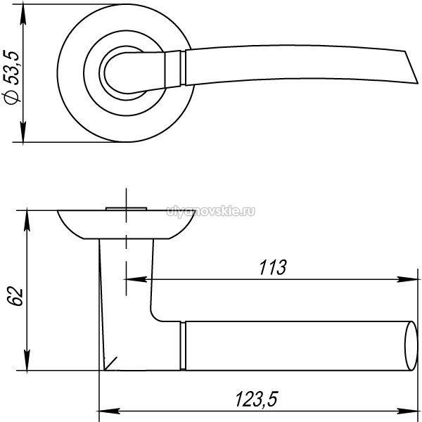 Ручка Punto Ardea TL-SN/CP-3 матовый никель/хром