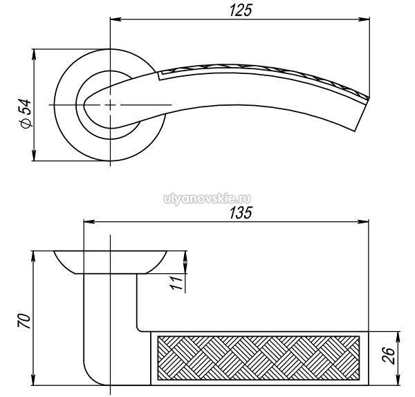 Ручка Atlas TL-SN/CP-3 матовый никель/хром