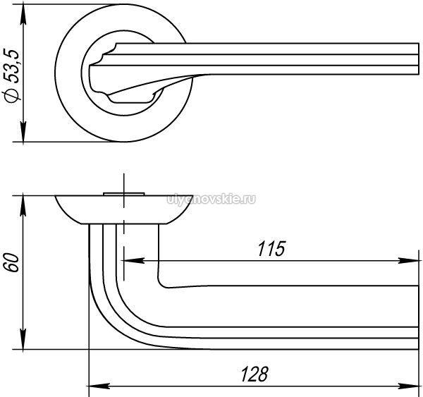 Ручка Bolero TL-SN/CP-3 матовый никель/хром