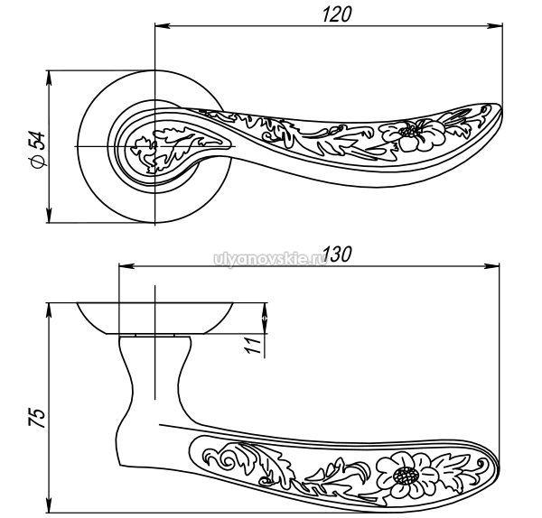 Ручка Gefest TL-SN/CP-3 матовый никель/хром