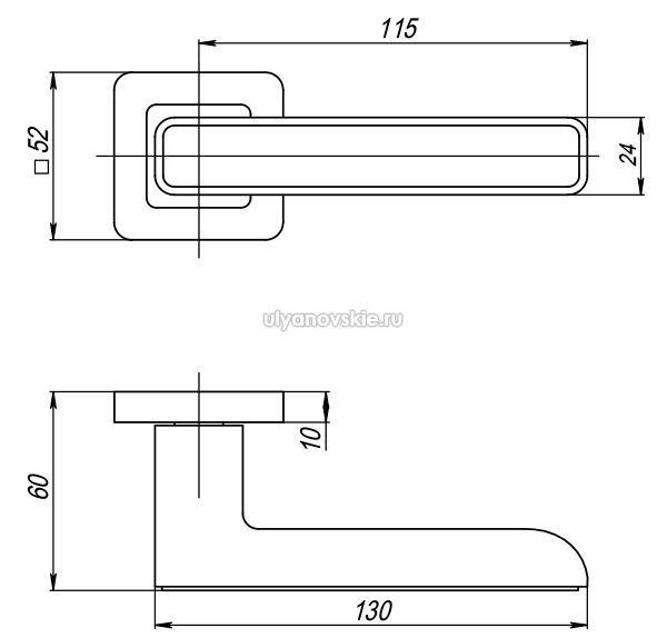 Ручка Mars QR-SN/CP-3 матовый никель/хром