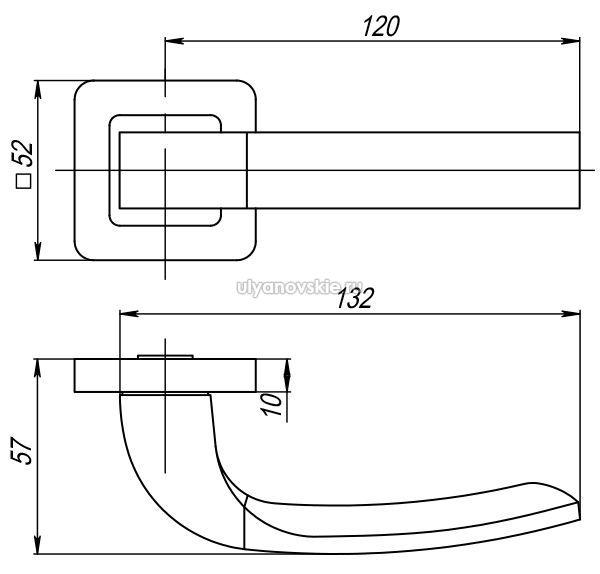 Ручка Orion QR-SN/CP-3 матовый никель/хром