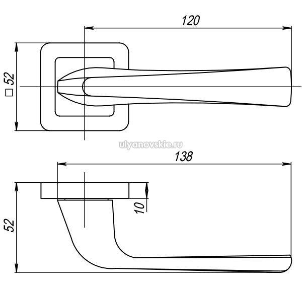 Ручка Saturn QR-GR/CP-23 графит/хром