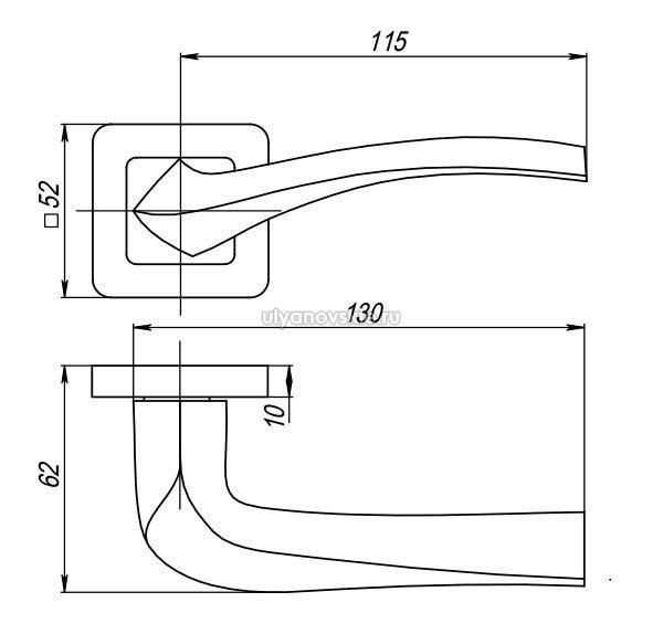Ручка Vesta QR-SN/CP-3 матовый никель/хром