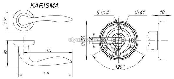 Ручка Fuaro ZM Karisma GP/SG-5 Золото