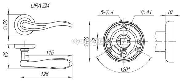 Ручка Fuaro ZM Lira AB/SG-6 Бронза/золото