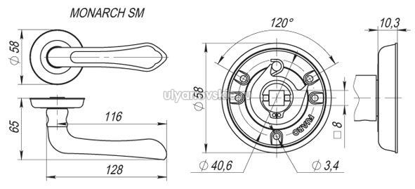 Ручка Fuaro SM Monarch матовая бронза