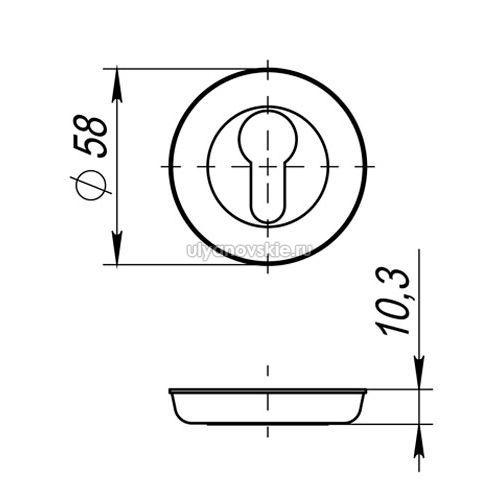 Накладка Fuaro серии RM ET хром
