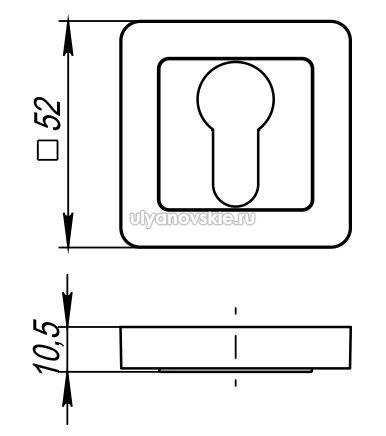 Накладка Punto ET QR-GR/CP-23 графит/хром