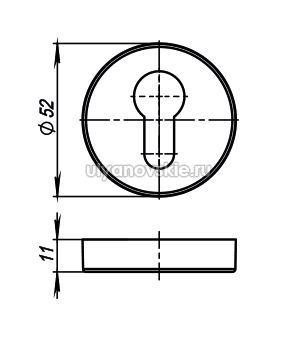 Накладка Armadillo Cylinder ET/URB-OB-13 Античная бронза