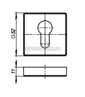 Накладка Armadillo Cylinder ET/USQ-SN-3 Матовый никель