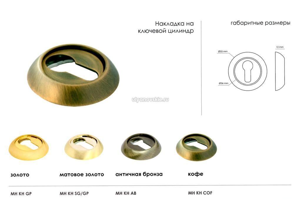 Накладка Morelli MH-KH SN/BN Белый никель/черный никель