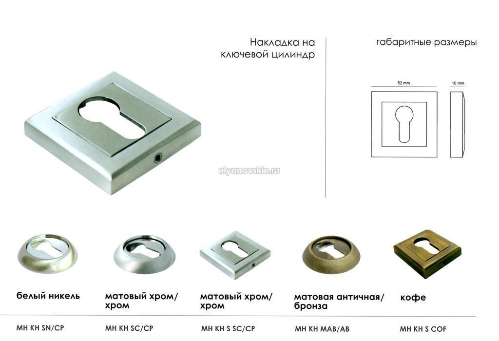 Накладка Morelli MH-KH-S SC/CP Матовый хром и хром