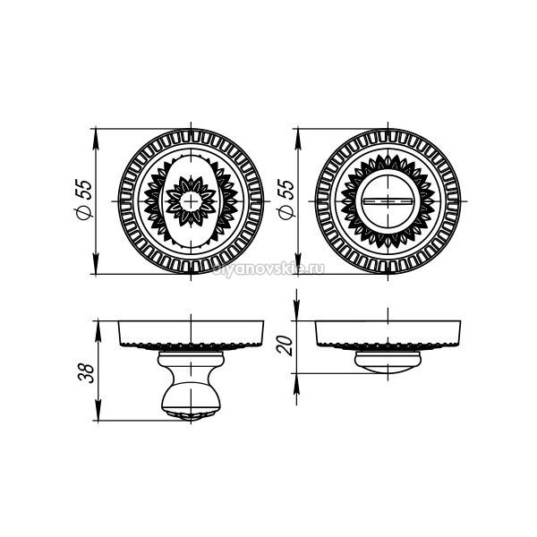 Фиксатор Armadillo WC-BOLT BK6/CL-AS-9 Античное серебро