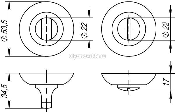 Фиксатор Punto BK6 TL-SN/CP-3 матовый никель/хром