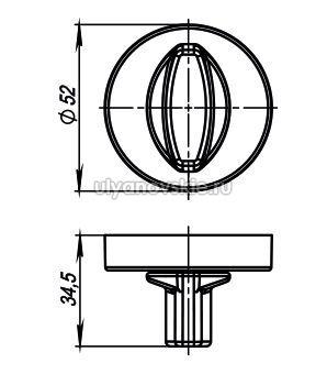 Фиксатор Armadillo WC-BOLT BK6/URB-BPVD-77 Вороненый никель