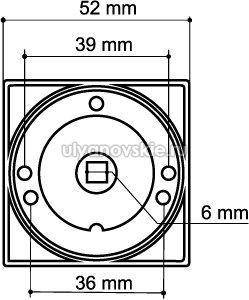 Фиксатор Armadillo WC-BOLT BK6/SQ-21CP-8 хром
