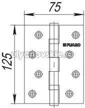 Петля Fuaro 2BB/BL 125x75x2,5 AC Медь