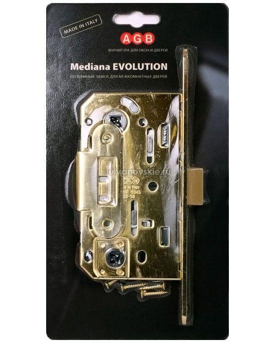 Защелка пластик с ответкой AGB WC MEDIANA Evolution античная бронза