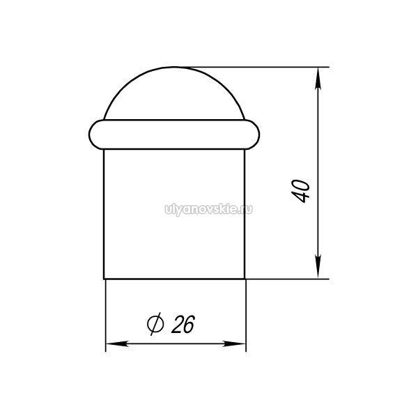 Упор дверной Punto DS PF-40 CFB-18 кофе глянец