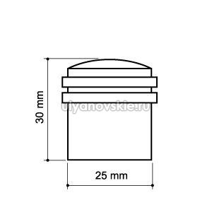 Упор дверной Armadillo DH062ZA SN Матовый никель