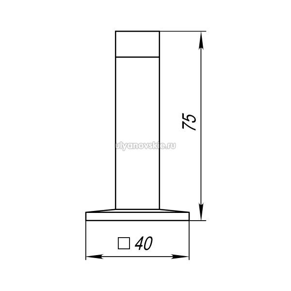 Упор дверной Punto DS PW-75 SN-3 матовый никель