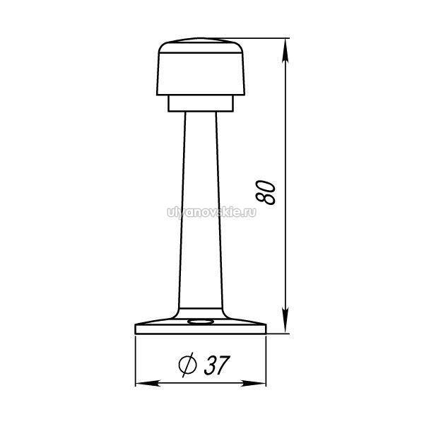Упор дверной Punto DS PW-80 CP-8 хром